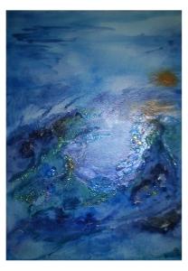 009-w Blauer Krater