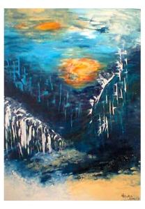 036-w Wasserfälle im Gebirge