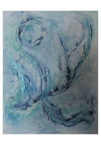 051-w Türkisblaue Wirbel