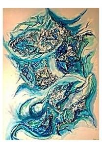 062-w Strukturen in Blau